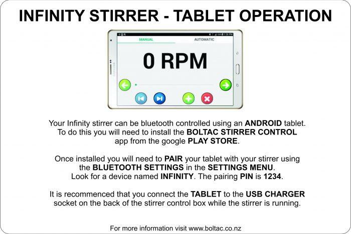 Infinity Basic Operation Chart 2